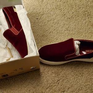 Micheal kors red velvet sneaker